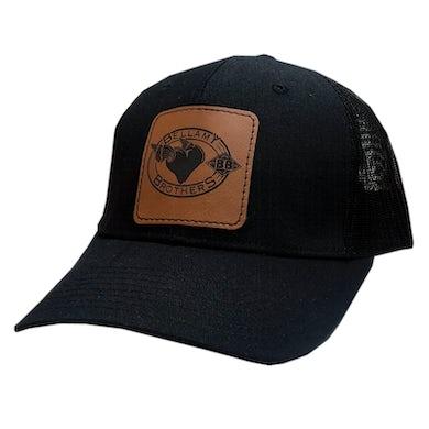 Bellamy Brother Black Ballcap w/ Leather Patch