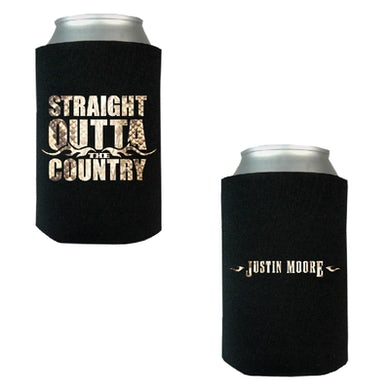 Justin Moore Black Straitght Outta the Country Can Coolie