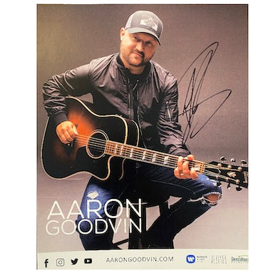 Signed 8x10- with guitar