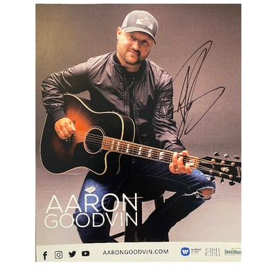 Aaron Goodvin Signed 8x10- with guitar