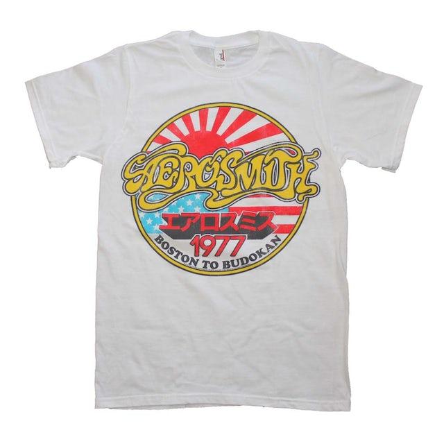 Aerosmith T Shirt   Aerosmith Boston to Budokan Vintage Inspired Slim Fit T-Shirt