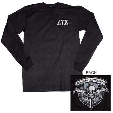 Avenged Sevenfold T Shirt   Avenged Sevenfold Biker Bat Long Sleeve T-Shirt
