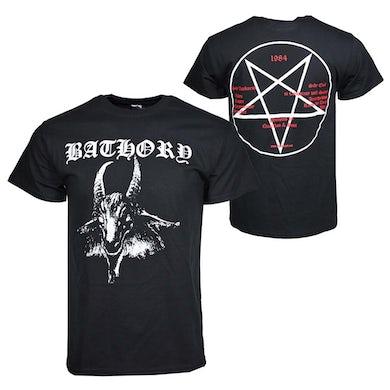 Bathory T Shirt | Bathory Goat Logo T-Shirt