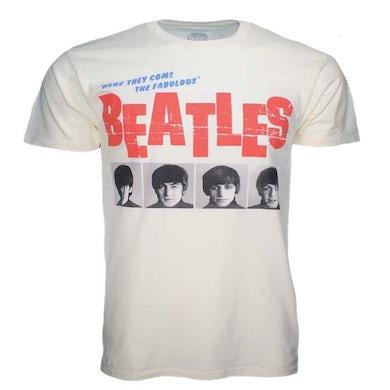 The Beatles T Shirt | Beatles American Tour 1964 Cream Front Print T-Shirt
