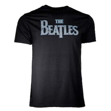The Beatles T Shirt   Beatles Distressed Vintage Logo T-Shirt