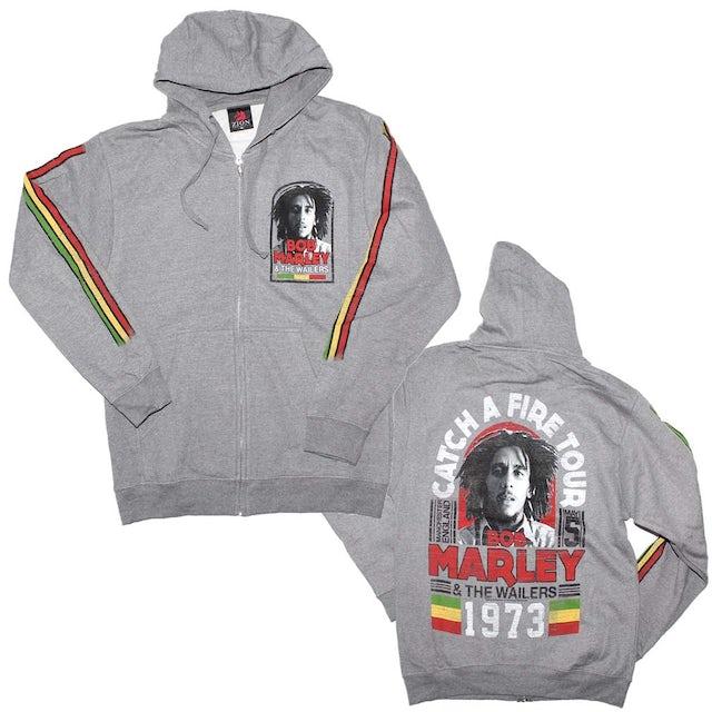 Bob Marley Manchester Tour Zip Hoodie Sweatshirt