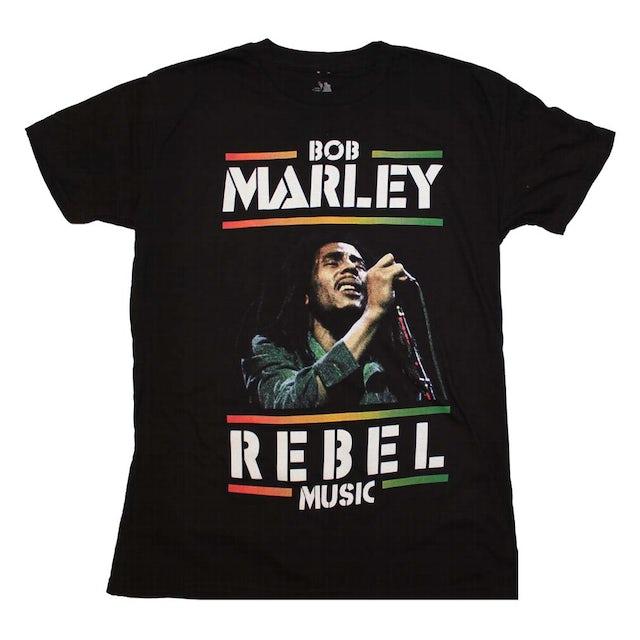 Bob Marley T Shirt   Bob Marley Rebel Music T-Shirt