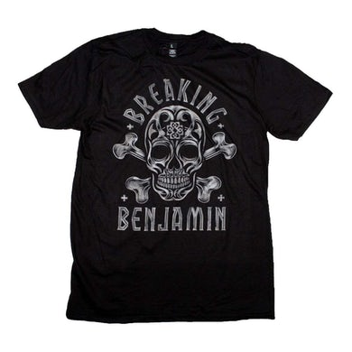 Breaking Benjamin T Shirt | Breaking Benjamin Crossbone Skull T-Shirt