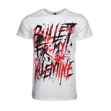 Bullet For My Valentine T Shirt | Bullet For My Valentine Splattered Logo T-Shirt