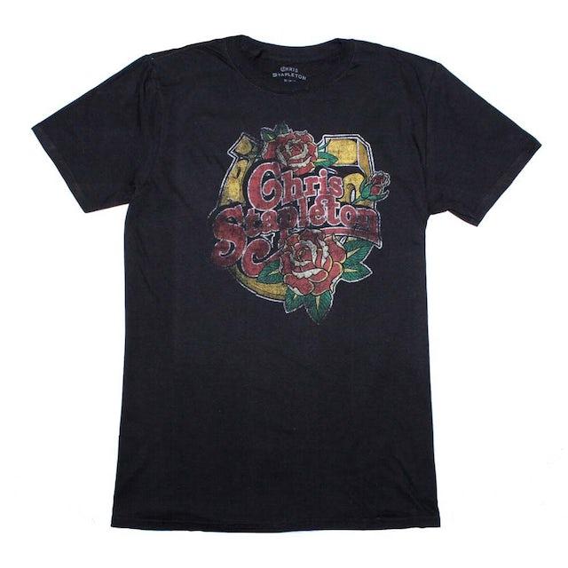 Chris Stapleton T Shirt | Chris Stapleton Horseshoe Roses T-Shirt