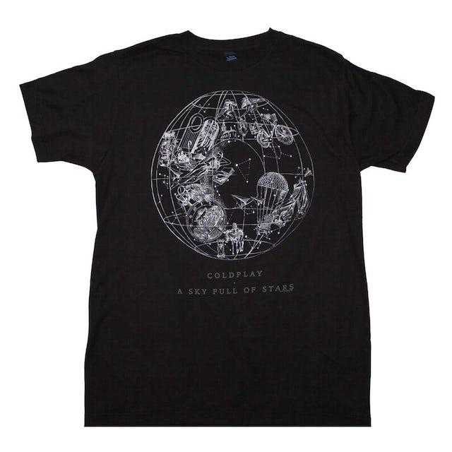 Coldplay T Shirt   Coldplay Sky Full of Stars T-Shirt