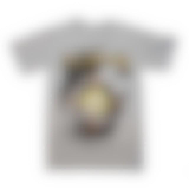Def Leppard T Shirt   Def Leppard Target Pyromania Heather Gray T-Shirt
