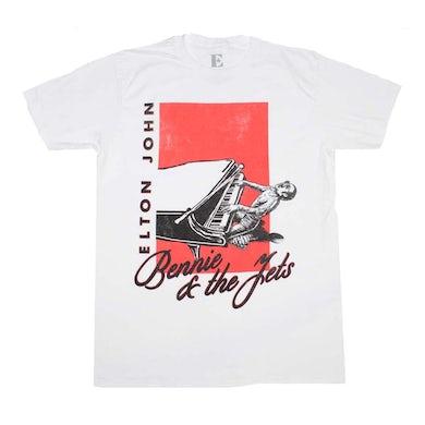 Elton John T Shirt   Elton John Bennie & The Jets T-Shirt