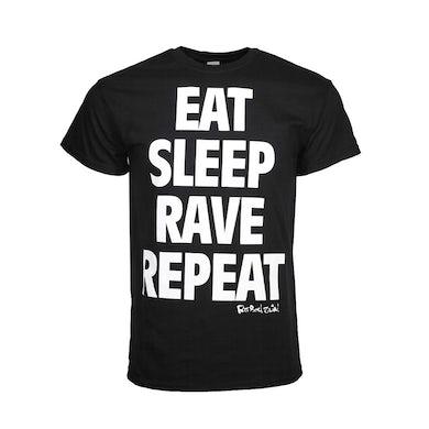 Fatboy Slim T Shirt   Fatboy Slim Eat Sleep T-Shirt