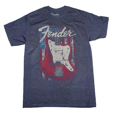 Fender T Shirt   Fender Flag Guitar T-Shirt
