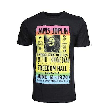 Janis Joplin T Shirt | Janis Joplin Freedom Hall Poster T-Shirt
