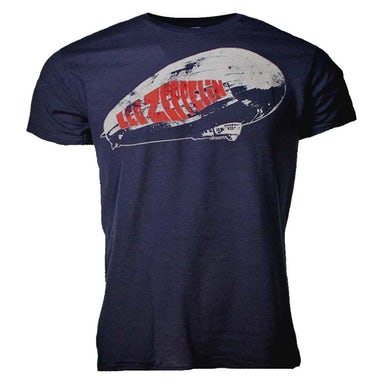 Led Zeppelin T Shirt | Led Zeppelin Blimp Logo Navy T-Shirt