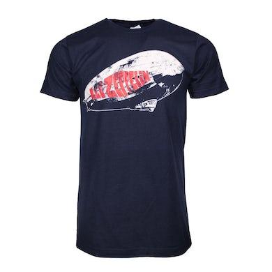 Led Zeppelin T Shirt   Led Zeppelin Blimp Logo Navy T-Shirt