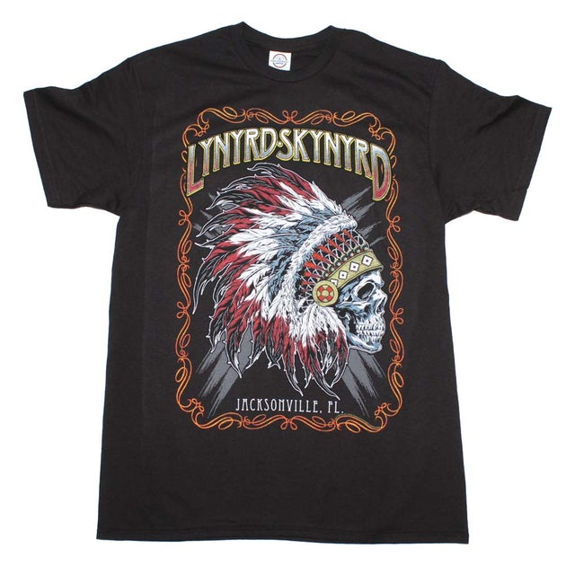 Lynyrd Skynyrd T Shirt   Lynyrd Skynyrd Indian Skeleton T-Shirt
