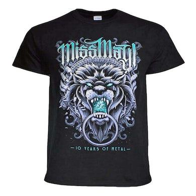 Miss May I T Shirt | Miss May I 10 Years of Metal T-Shirt
