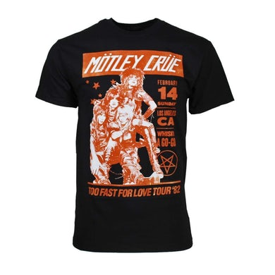Mötley Crüe T Shirt | Motley Crue Vintage-Inspired Whiskey A Go Go T-Shirt