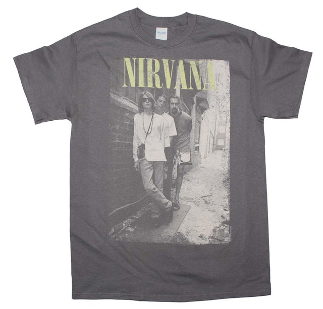 Nirvana T Shirt | Nirvana Brick Wall Alley Photo T-Shirt