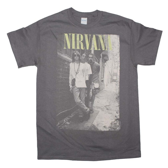 Nirvana T Shirt | Nirvana Brick Wall Alley Photo T-Shirt