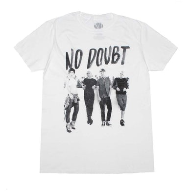 No Doubt T Shirt   No Doubt Rooftop White T-Shirt