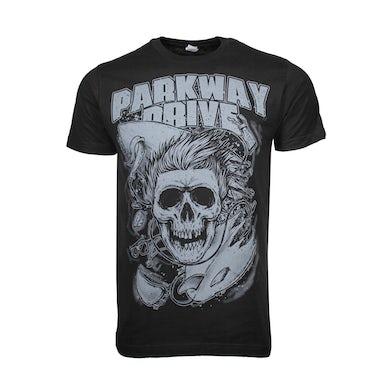 T Shirt | Parkway Drive Surfer Skull T-Shirt