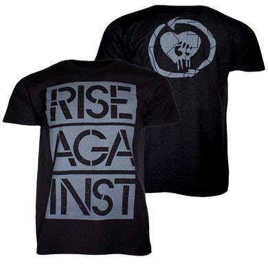T Shirt | Rise Against Stacked Stencil Ghost Notes T-Shirt