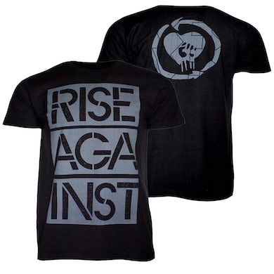 Rise Against T Shirt | Rise Against Stacked Stencil Ghost Notes T-Shirt