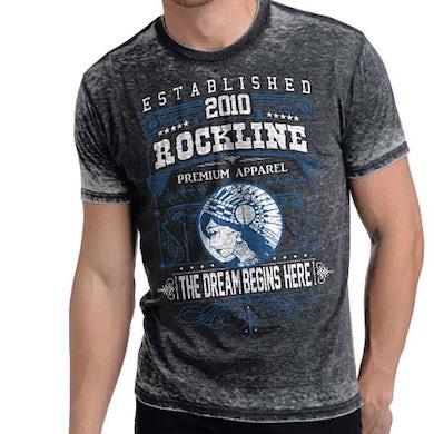 Designer Streetwear T Shirt   Rockline Premium Men's Dream Burnout T-Shirt