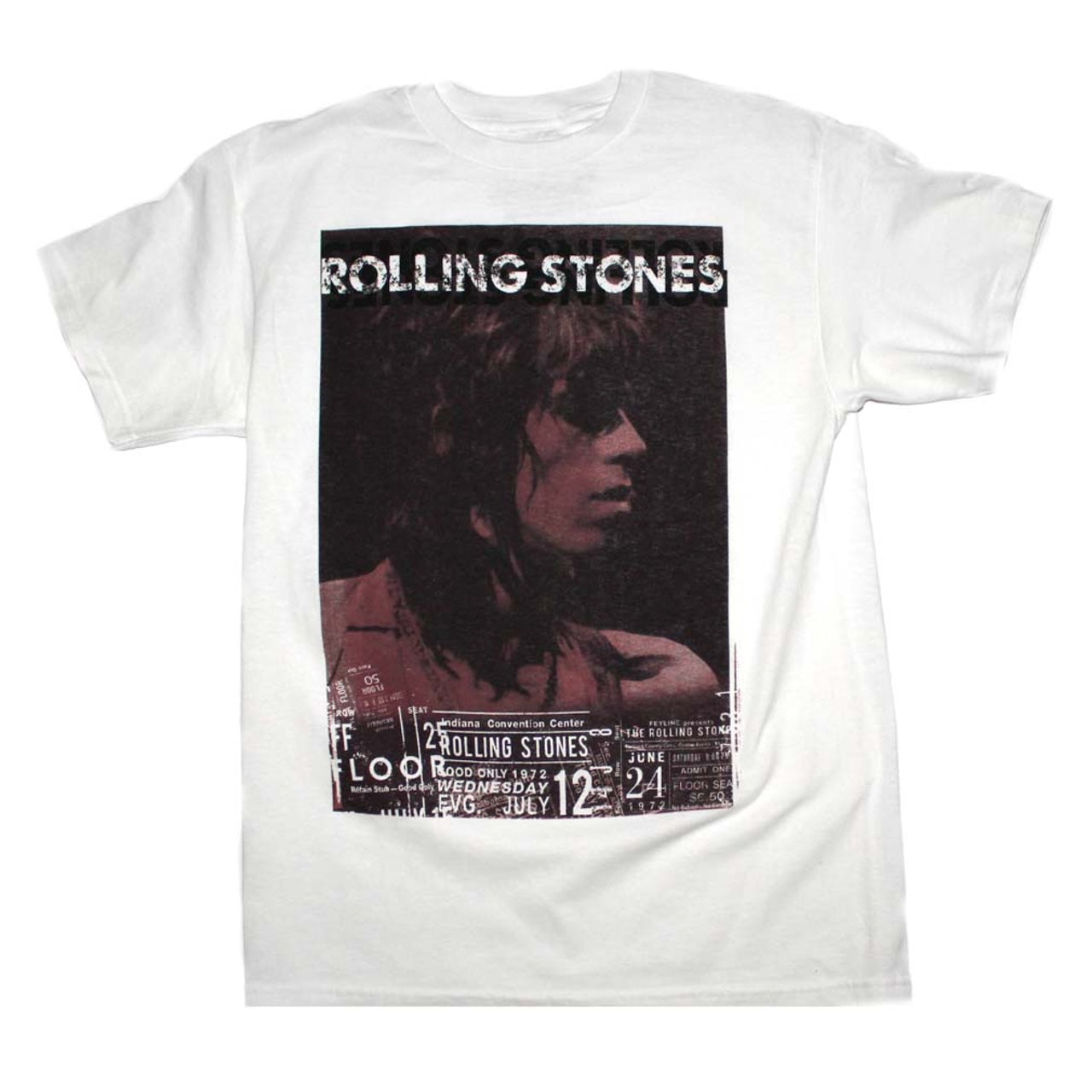 The Rolling Stones T Shirt   Rolling Stones Keith Vintage Live T-Shirt