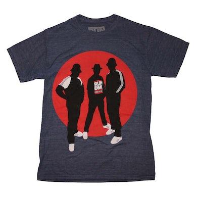 RUN DMC T Shirt   Run DMC Silhouette Circle Tri-Blend T-Shirt