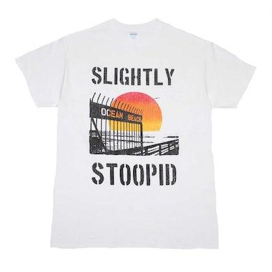 Slightly Stoopid T Shirt   Slightly Stoopid Ocean Beach Gate T-Shirt