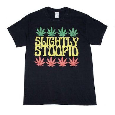 Slightly Stoopid T Shirt | Slightly Stoopid Rasta Leaf T-Shirt