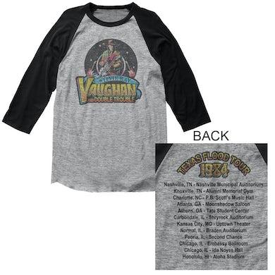 Stevie Ray Vaughan T Shirt | Stevie Ray Vaughan Texas Flood Raglan Sleeve Tee