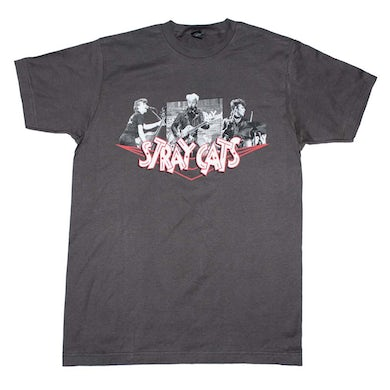 Stray Cats T Shirt | Stray Cats Photo Collage T-Shirt