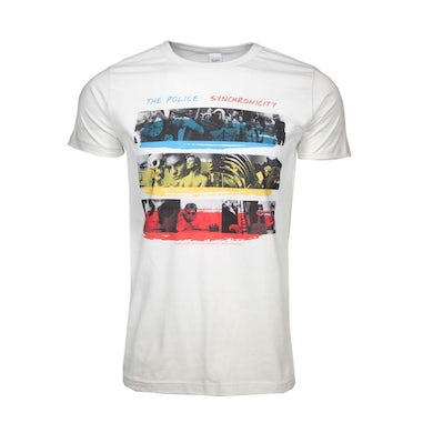 The Police T Shirt | The Police Synchronicity Fitted Jersey T-Shirt
