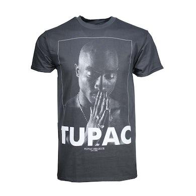 Tupac T Shirt | Tupac Praying Charcoal Heather Men's T-Shirt