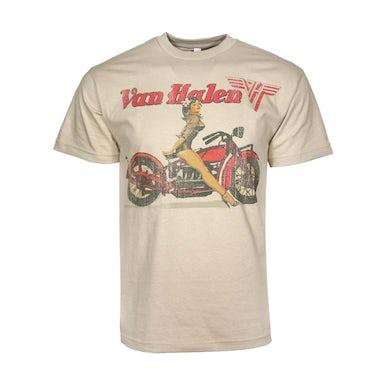 Van Halen T Shirt | Van Halen Biker Pin Up T-Shirt