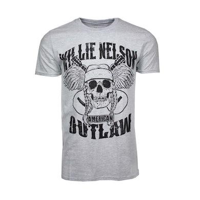 Willie Nelson T Shirt   Willie Nelson Outlaw Skull T-Shirt