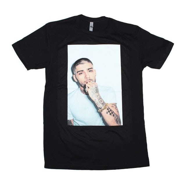 Zayn T Shirt | Zayn White on White Photo T-Shirt