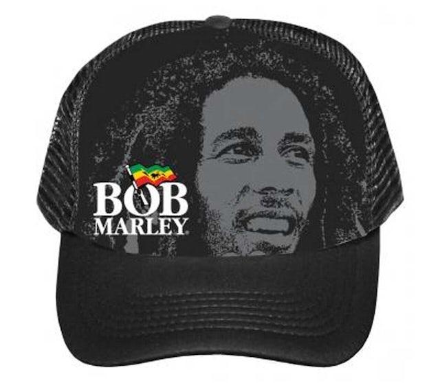 Bob Marley Portrait Logo Trucker Hat