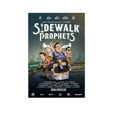 """Sidewalk Prophets Full Color Limited Edition """"Virtual Tour"""" Movie Poster (Autographed)"""