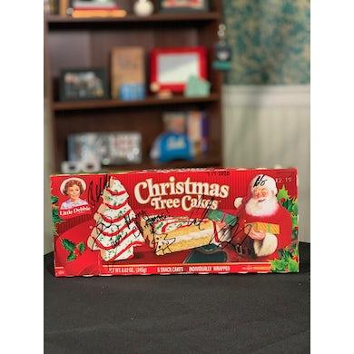 Sidewalk Prophets SIGNED Little Debbie Christmas Tree Cakes box! *AUTHENTIC*