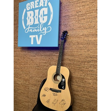 Sidewalk Prophets Signed Epiphone Acoustic Guitar (Autographed!) [Great Big Family Christmas 2020]