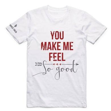 Dino Jag - 'You Make Me Feel So Good' White Tee