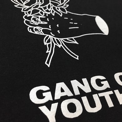 Gang of Youths - Black Drawn Flowers Tee