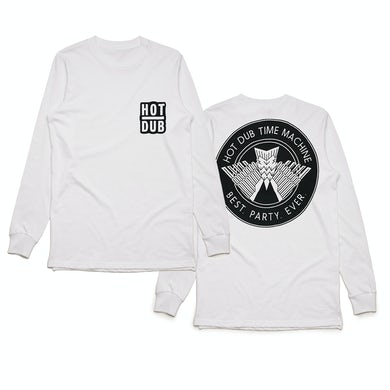 Hot Dub Time Machine Best. Party. Ever. White Longsleeve Tee
